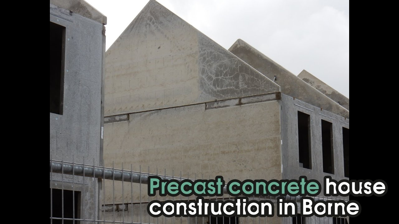 Precast Concrete House Construction In Borne Youtube
