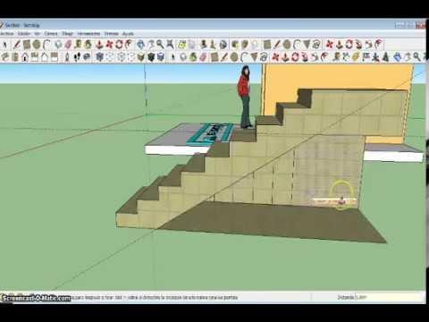 Como hacer una escalera de u youtube for Como cubrir una escalera