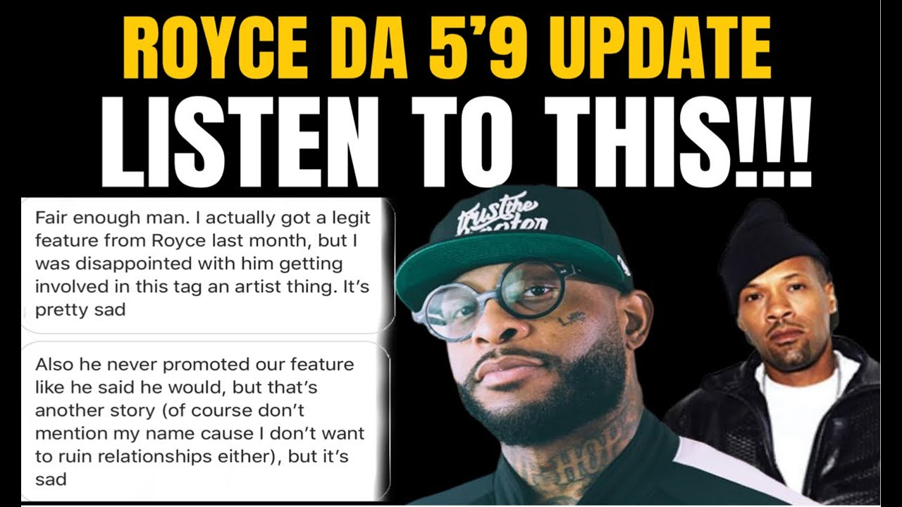 """ROYCE DA 5'9"""" SCAM UPDATE - PEOPLE TRYING TO SILENCE ME!!! SMH"""