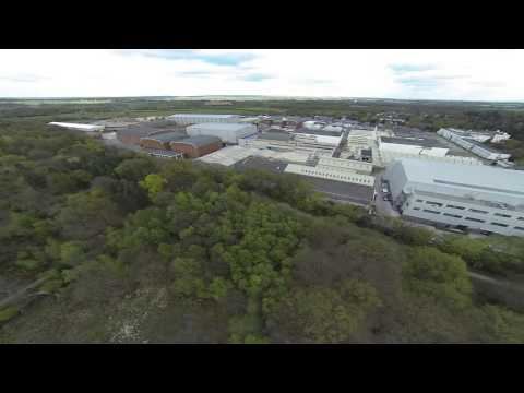 DJI F550 Drone over Pinewood Studios and part of Black Park