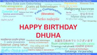 Dhuha   Languages Idiomas - Happy Birthday