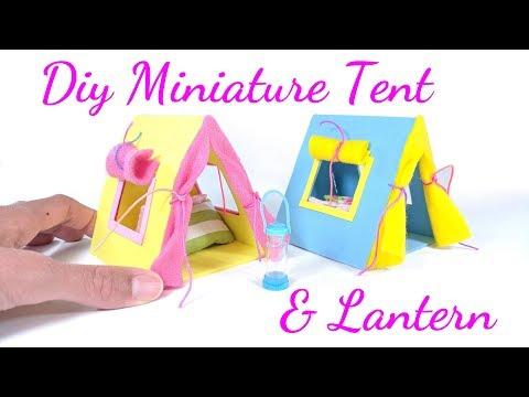 DIY Miniature Dollhouse Tent & Lantern
