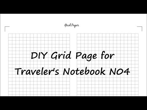 How to make Grid paper for Bullet journal