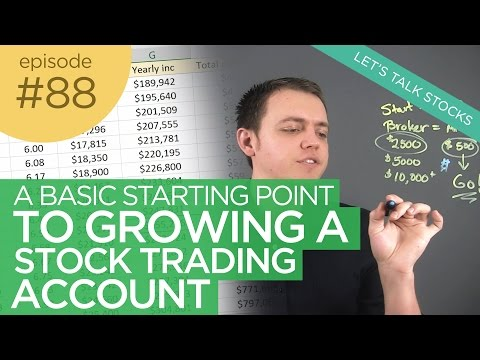 Ep 88: Basic Starting Point to Growing a Stock Trading Account