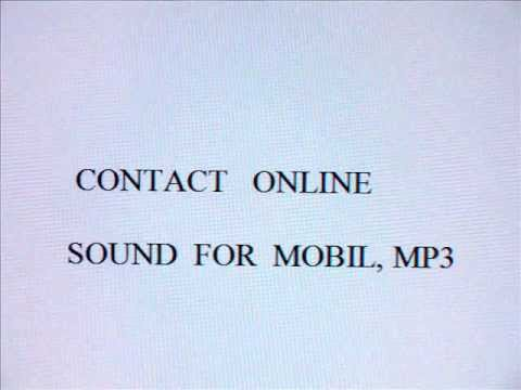 CONTACT ONLINE, SOUND FOR  MOBIL, MP3
