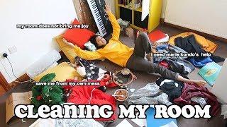 cleaning my messy room *satisfying* (marie kondo technique) | clickfortaz