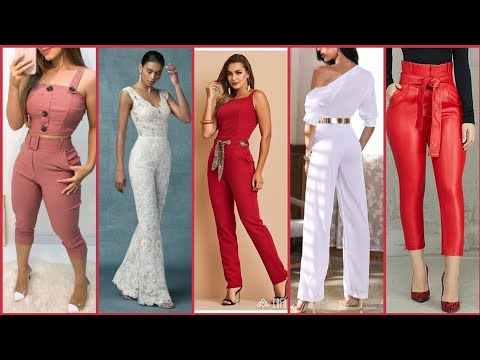 Beautiful Glamorous Stylish And Outstanding Unique Style Jumpsuits Design For Working Girls /Womens