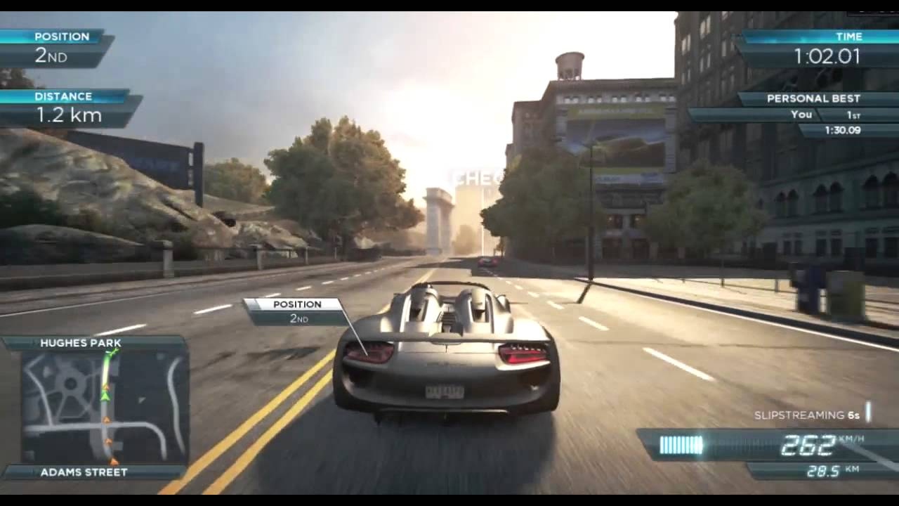 need for speed most wanted 2012 sprint race won with the porsche spyder youtube. Black Bedroom Furniture Sets. Home Design Ideas
