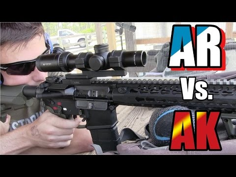 Real Steel Shooting | AR-15 VS. AK-47