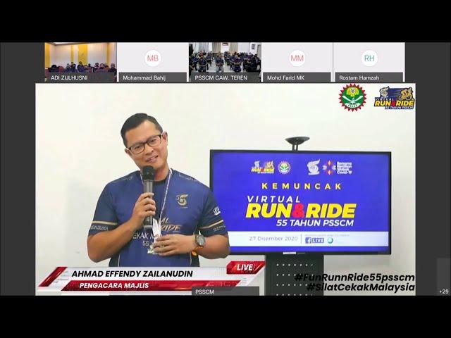 Sambutan 55 Tahun PSSCM   Kemuncak Fun Run n Ride, Pelancaran Novel Panglima Ismail webex