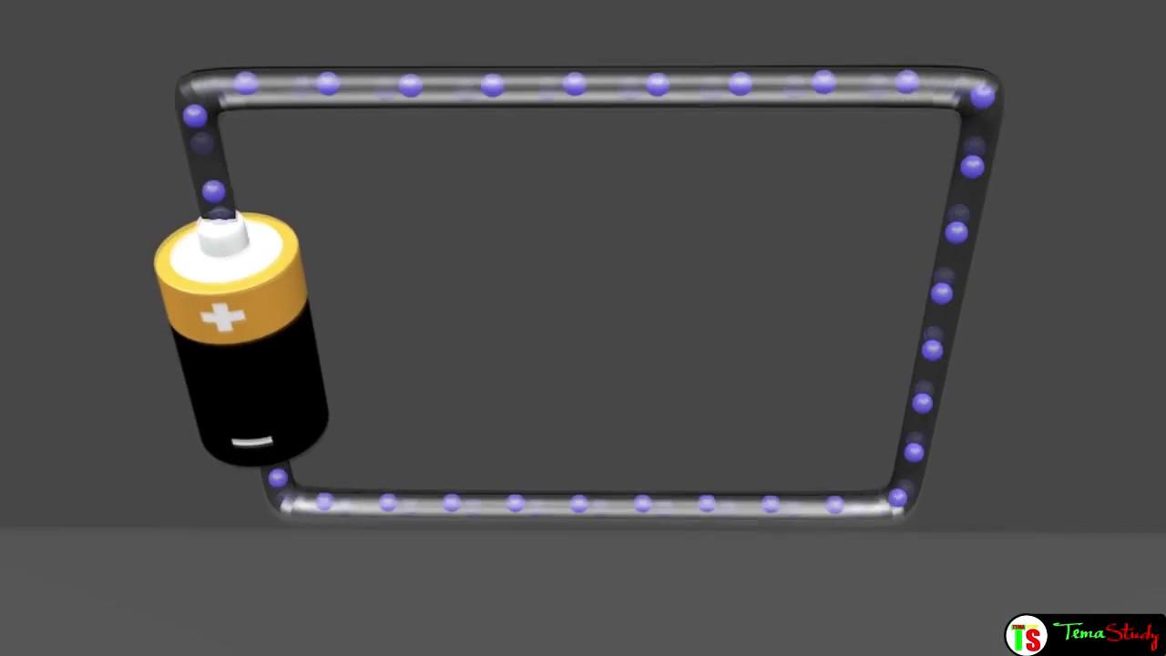 d placement des electrons dans le courant electrique temastudy youtube. Black Bedroom Furniture Sets. Home Design Ideas