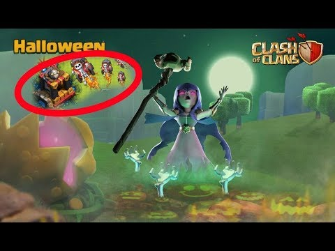 Clash of clans new update Halloween 31 Oct 2017 - YouTube