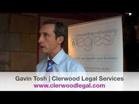 6 Degrees : Gavin Tosh : Clerwood Legal Services : Edinburgh