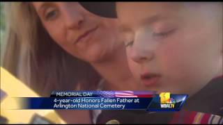 4-year-old shares message for fallen father thumbnail