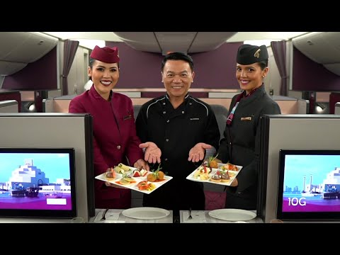 Qsuite experience from Thailand with Chef Ian Kittichai | Qatar Airways