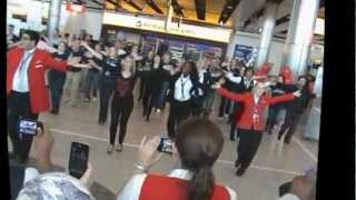 DELTA AIR LINES HEATHROW FLASH MOB - 10th May 2012