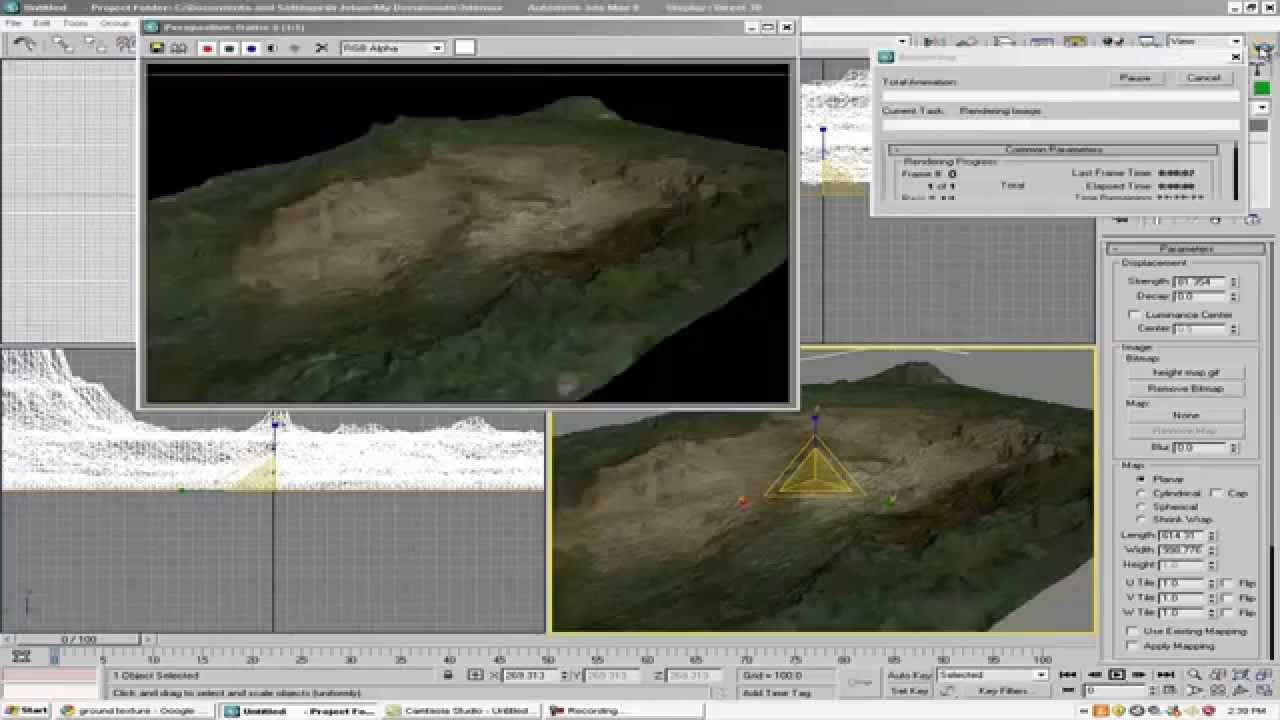 How To Create A 3D Mountain Map Background Art In 3ds Max Tutorials