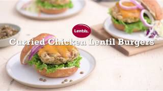 Curried Chicken Lentil Burgers