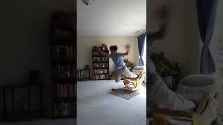 Epic rocking chair fail