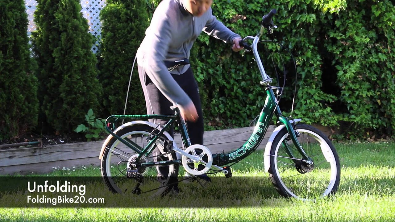 cd8369d3201 Schwinn Loop Folding Bike - How to Fold and Unfold - YouTube