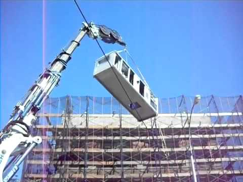 Hoisting An A/c Unit Onto A Roof Stoneage Equipment