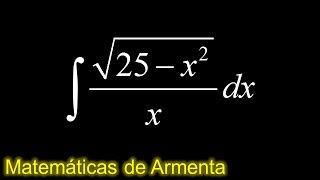 integracion por sustitucion trigonometrica ejemplo 6