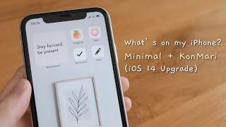 Điện thoại của mình có gì?   Tối giản + KonMari (iOS 14)