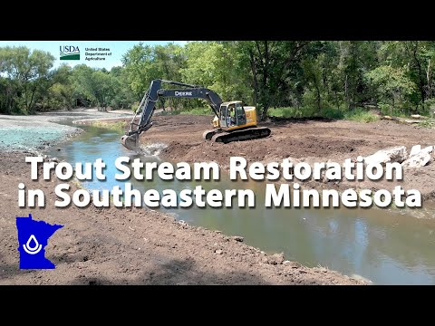 Trout Stream Restoration In Southeastern Minnesota