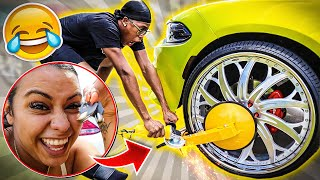 CARMEN DESTROYS AND BOOTS COREY'S $80,000 CHARGER!! | BAD IDEA