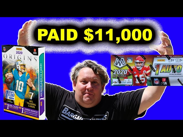 WE PAID $11,000 FOR 2020 PANINI FOOTBALL CARDS 4 RESELL STORAGE WARS