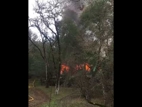 Fire destroys Nice house