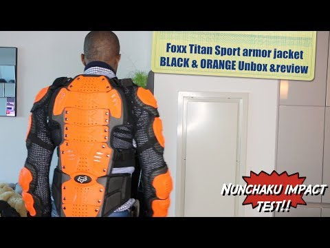Fox Racing Titan Sport Armor Jacket Black And Orange -HERVEs WORLD- Episode 145