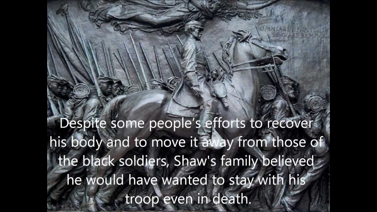 the massachusetts 54th regiment history essay Robert gould shaw (october 10, 1837 – july 18, 1863) was an american soldier in the union army during the american civil warborn into a prominent abolitionist family, he accepted command of the first all-black regiment (54th massachusetts) in the northeast and encouraged the men to refuse their pay until it was equal to the white troops' wage.