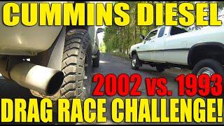 dodge 5 9l diesel race 12 valve vs 24 valve backroad showdown