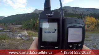 www.CanadaSatellite.ca - Iridium 9555 vs Inmarsat Isatphone 2 - Canmore, Alberta, Canada