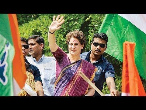 Priyanka Gandhi Addresses a Rally in Wayanad, Kerala