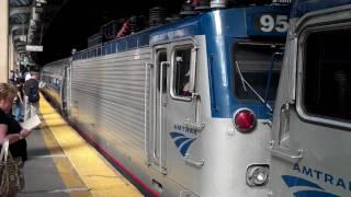 Double Header Train Day Newark Penn Station July 30 Part 1