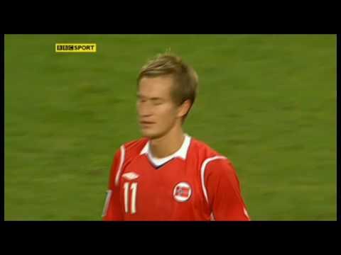 Pedersen's Freekick vs Scotland - 12.08.2009 WCQ. HD
