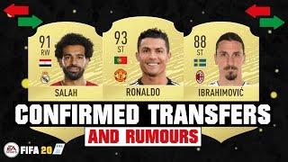 FIFA 20 | NEW CONFIRMED TRANSFERS & RUMOURS 😱🔥| FT. RONALDO, IBRAHIMOVIC, SALAH... etc