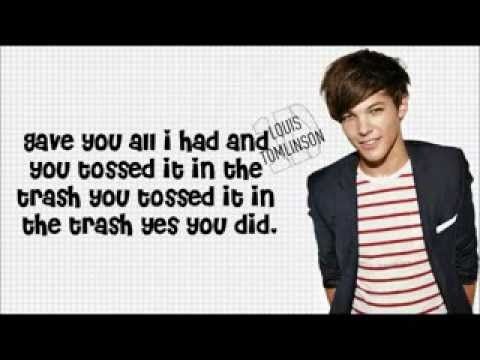 Grenade (Cover) - One Direction (Lyrics With Pictures)