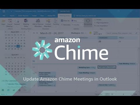Update Amazon Chime Meetings in Microsoft Outlook Calendar