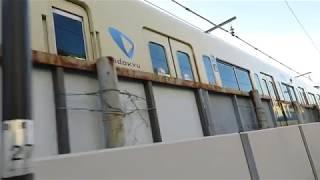 小田急江ノ島線・8000形片瀬江ノ島駅発車(Odakyu Enoshima Line)
