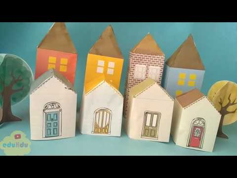 DIY Super easy paper house - with Free Printables