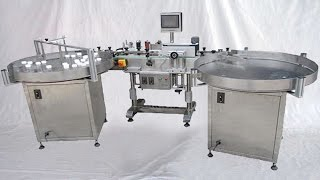 vertical labeling machine with accumulation turntable USA buyer bouteilles de machines d'étiquetage