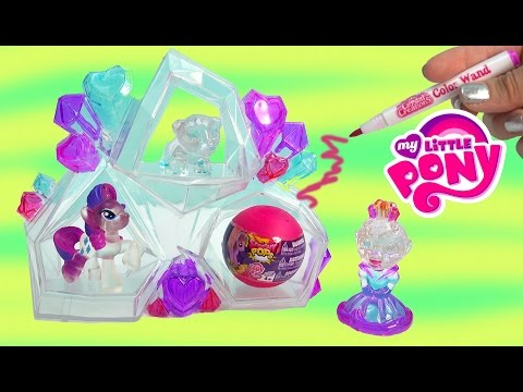 Crystal Creations Craft Princess Playset My Little Pony Blind Bag Squishy Pops Toy Unboxing Video