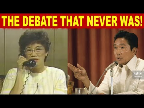THE HISTORICAL INTERVIEW OF FERDINAND MARCOS AND CORY AQUINO BEFORE THE 1986 ELECTIONS