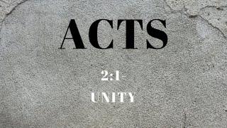 Acts 2:1 Unity