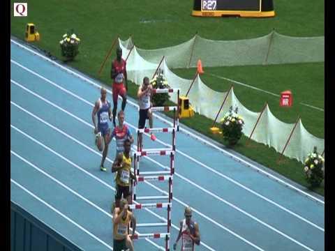 Mens 400metres hurdles round 1 - Rhys Williams 49.85 12.08.13.  Moscow World Championships