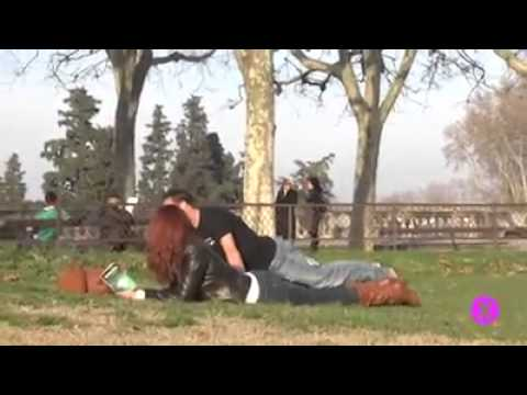 Guy air humps a bunch of fine ladies.