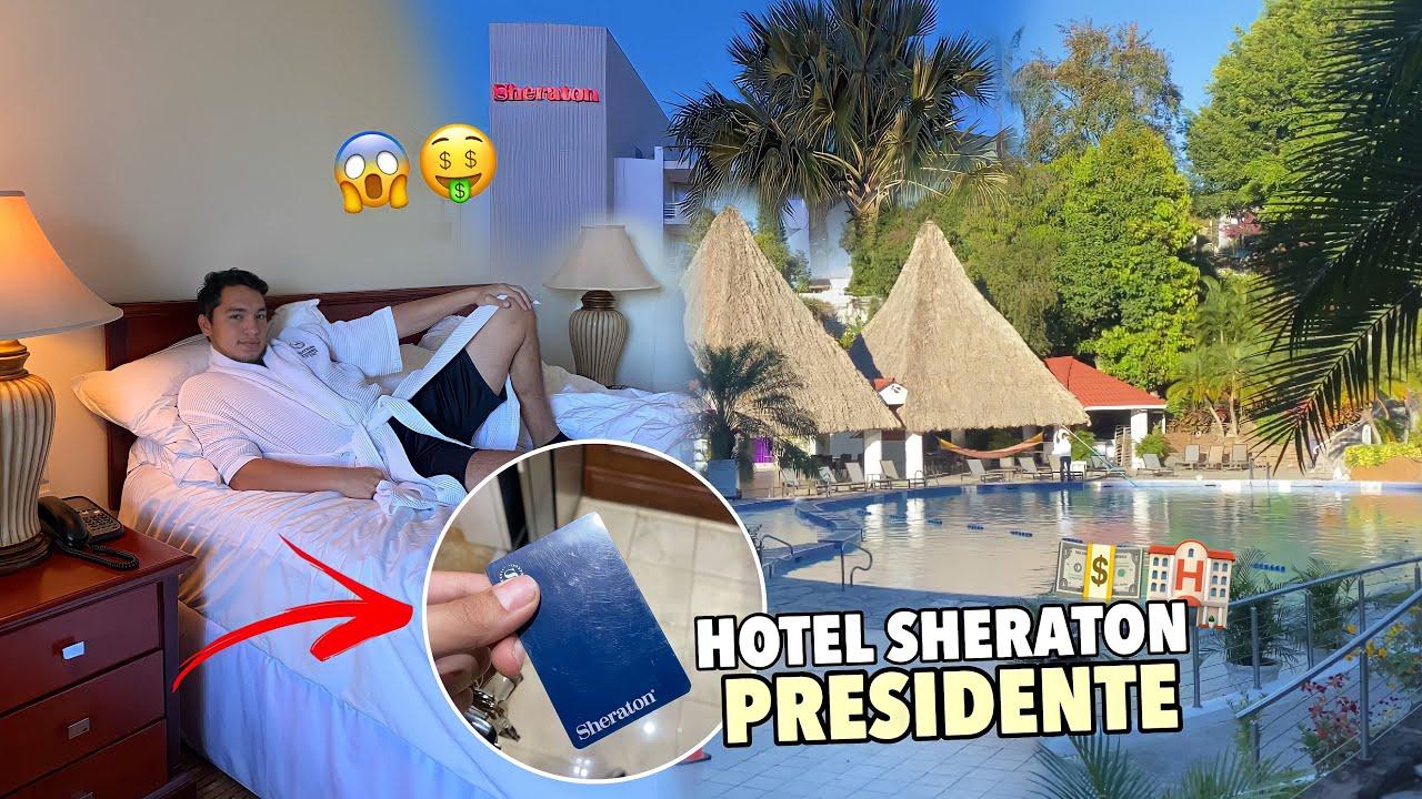 ¿Hotel para ricos? 🤑🏨 Así es el HOTEL Sheraton Presidente de El Salvador 🇸🇻